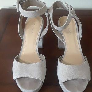 Marc Fisher ankle strap suede platform shoes